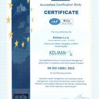 KOLMAN ISO 14001-2015 EN