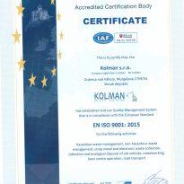 KOLMAN ISO 9001-2015 EN